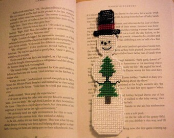 Easter Gift, Snowman Bookmark, Plastic Canvas, Christmas Bookmark, Needlepoint Item, Kids Bookmark, Frosty The Snowman, Easter Kids Gifts