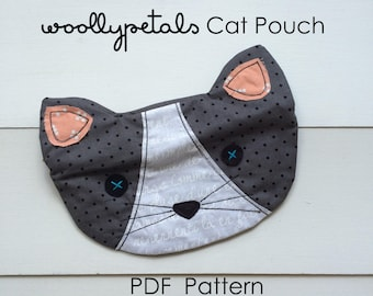 PDF Woollypetals Cat Pouch Pattern