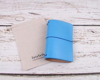 Handcrafted traveler's notebook pocket size, READY TO SHIP