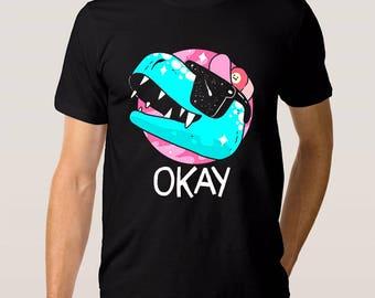 Dinosaur 'Okay' T-shirt, All Sizes