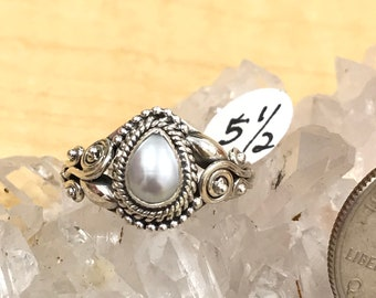 Pretty Pearls Ring, Size 5 1/2