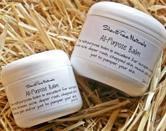 All-Purpose Balm-Natural Skincare, For Scrapes, Burns, Bruises, Acne, Diaper Rash, Chapped Skin, Softening, All-Natural Products - 2 or 4 oz