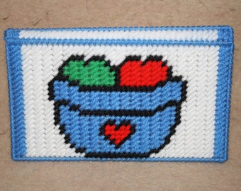 503 Basket of apples checkbook cover