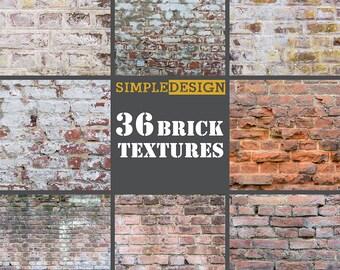 Brick digital paper. Brick background. Brick paper. Brick backdrop. Brick texture. Digital brick wall. Brick. Brick wall