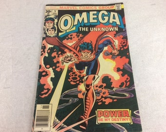 Omega the Unknown Comic Book - Vintage Marvel Comic Books