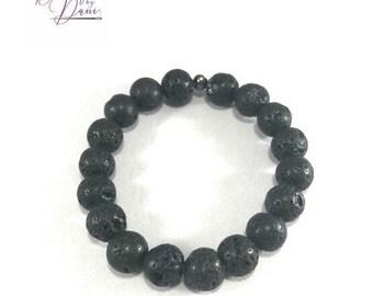 Lava Stone Bead Essential Oil Diffuser Bracelet Serenity Line