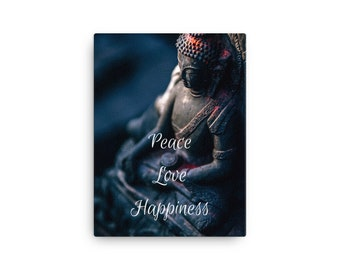Peace, Love, Happiness - Canvas