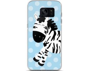 Zebra Blue Dot Samsung 7 Case or Samsung 8 Case