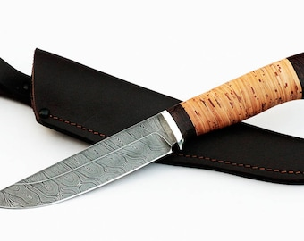 Hunting Knife Blacksmith Knife Personalized Knife Handmade Knife Engraved Knife Hand Forged