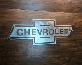 Chevrolet Bowtie Vintage  Metal Wall Art Decor Man Cave hot rod sign custom
