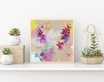 Abstract Painting Modern Art Original Art Abstract Wall art Contemporary Art Painting Landscape Pink painting Wall hanging Home decor