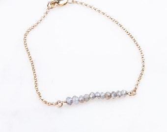 Bead Gemstone Short Bar Bracelets, Tiny Gemstones Bracelet, Bridesmaid Bracelet, Bead Bar Gemstone Bracelet, Gemstone Bracelet, Delicate