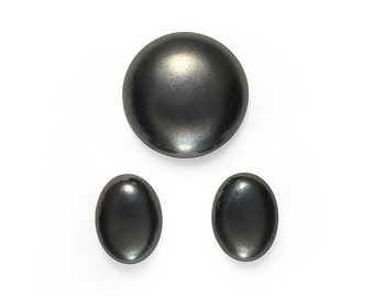 Ceramic Cabochons Set Glossy Metal Velvet 3 pieces