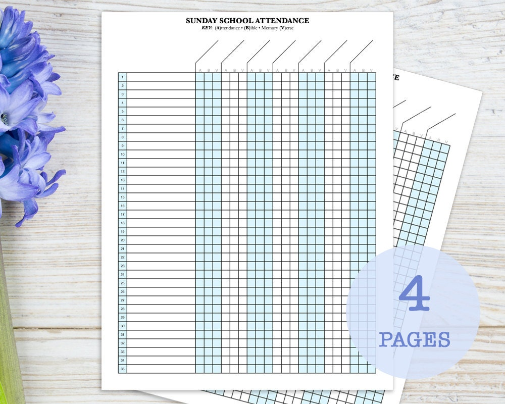 🔎zoom  Printable Attendance Sheet For Teachers