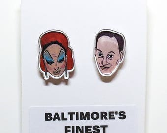 Baltimore's Finest Acrylic Earrings