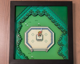 Legend of zelda a link to the past hyrule map snes legend of zelda a link to the past master sword snes shadowbox aloadofball Gallery