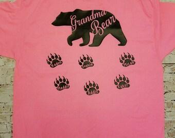 Grandma Bear Shirt - grandma shirt - mothers day shirt - grandparents day - gift for mom