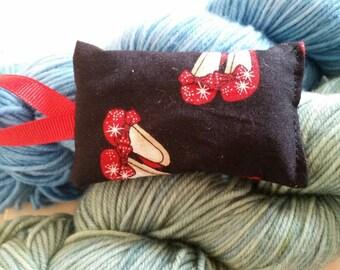 Ruby Slippers Wizard of Oz Lavender Sachet Handmade
