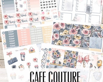 CAFE COUTURE// Planner STICKERS Individual Sheets sized for the Erin Condren Life Planner
