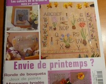 Crosstitch magazine n. 69 in french - embroidery ABC spring bulb, Paris train stations...