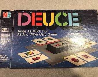Vintage DEUCE Card Game by Milton Bradley 1985