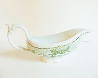 Wood & Son England Royal Semi Porcelain Gravy Boat circa 1891 Marseille