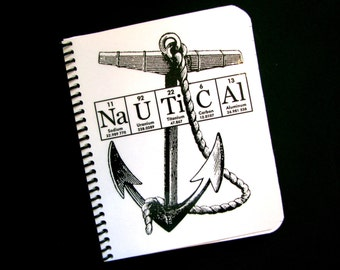 Nautical Anchor Journal Notebook ElementeesTM for the nerd in you