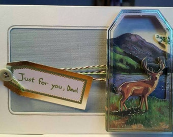 Handmade Fathers Day Card - Stag