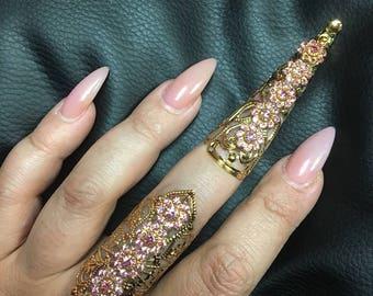 Baby pink full finger set