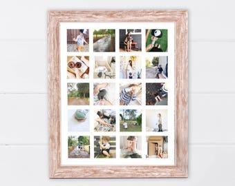 Printable Instagram Storyboard   Printable Instagram Poster   Printable Photo Wall Art