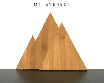 Mount Everest Triangle Cutting Boards, The Himalayas, Mountain Decor, Eco Friendly, Modern Kitchen, Boho, Kitchen Decor, Home Decor