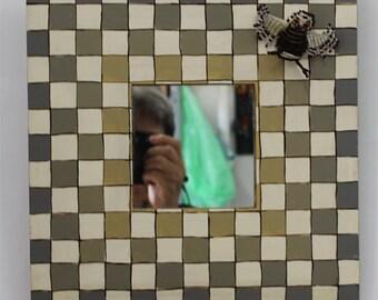 Small Wedding Mirror, Small Wall Mirror, Decorative Wall Mirror, Framed Mirror