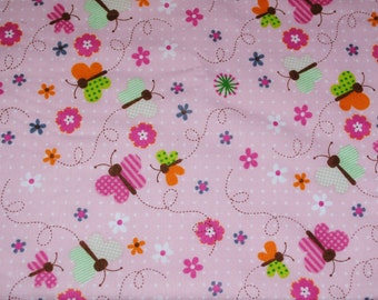 Fat Quarter Adorable Cheerful Butterfly Fabric