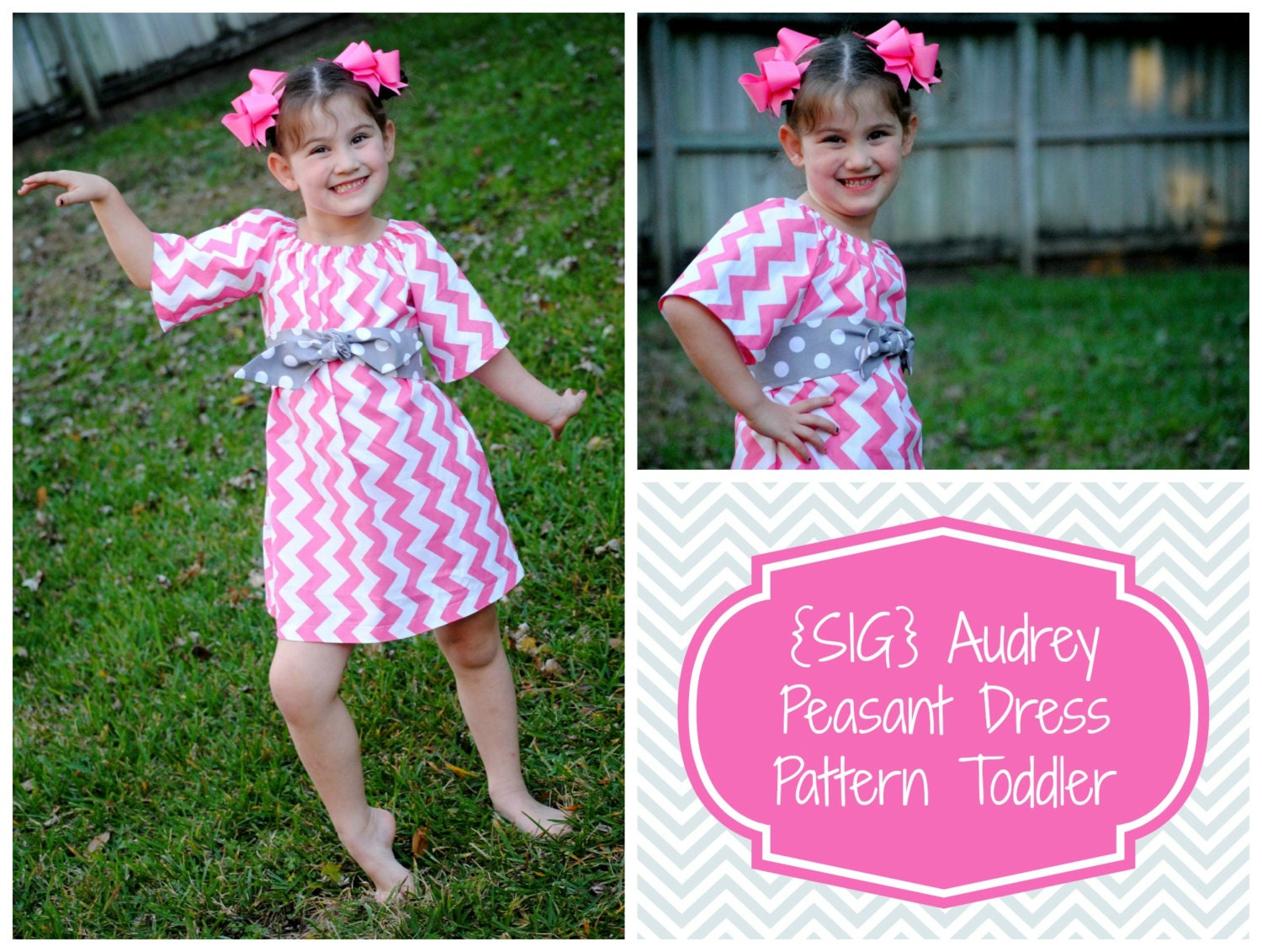 INSTANT Download SIG Audrey Peasant Dress with Sash Pattern