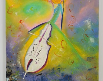 Violoncello, Cello, cello painting, cello art, musician painting, original painting, abstract paintings, gift for musician, music painting,