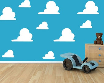 Toy Story cloud Andys room stencil