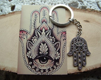 Hamsa Hand Keyring / Keychain~ Hand of God ~ Protective Symbol /Gift / Birthday / Inspirational