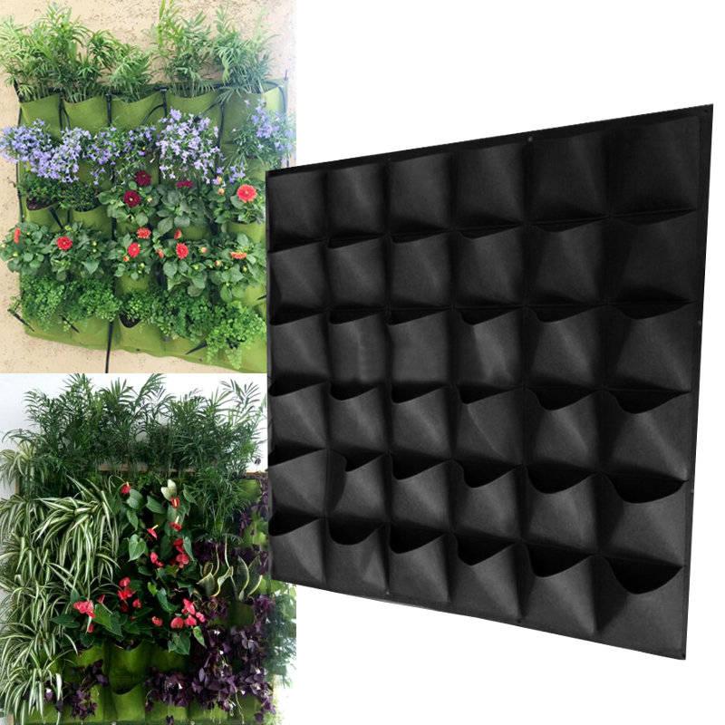 Hanging Wall Planter, Indoor Planter, Outdoor Wall Planter, Hanging Planter,  Outdoor Grow Bag, Pocket Planters, Wall Of Plants, Gardening