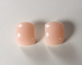 vintage minimal pink earrings | pierced earrings | statement earrings | 80s earrings | Able Shoppe