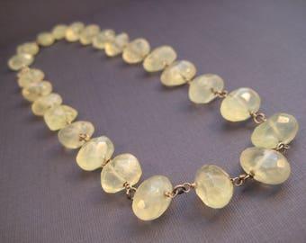 Prehnite bead necklace, new jade necklace