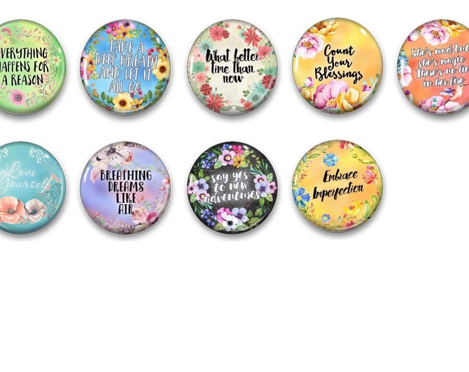 Inspirational refridgerator magnets - Gifts fof her - office decor - fridge magnets - cubicle decor