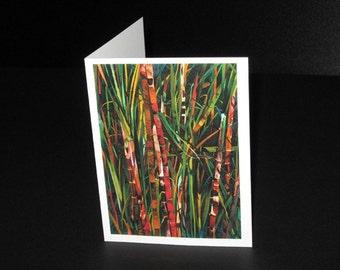 Cañas Greeting Card