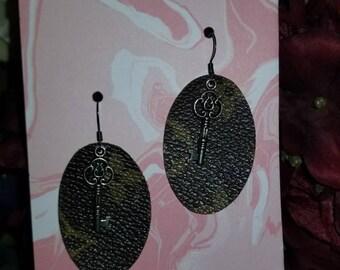 Louis Vuitton Silver Key Earrings