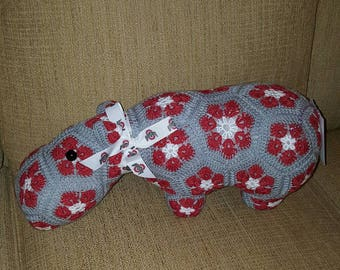 Crochet Ohio State University, Hippopotamus The Hippo, Heidibears Design