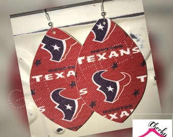 Texans football nfl earrings