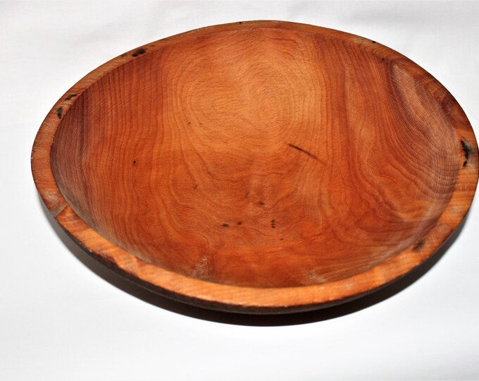 Vintage MUNISING Wood Dough Bowl Solid Maple