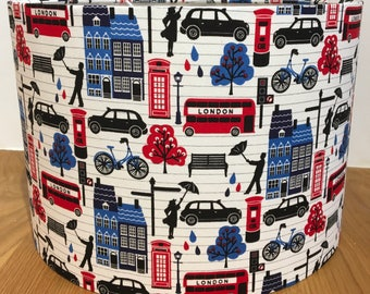 London Town /England handmade lampshade boys bedroom