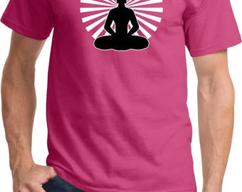 Yoga Clothing For You Mens Meditating Buddha Tee Shirt = PC61-MEDBUD