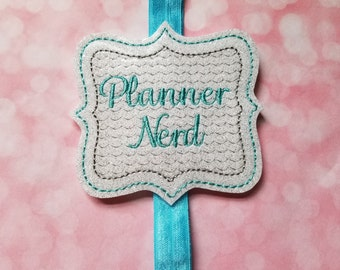 Planner Nerd Blue Planner Band  Planner Accessories  Bookmark  Erin Condren  Planner Band  Planner Addict