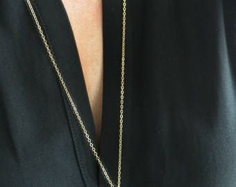 Skinny Vertical Bar Layering Necklace, Gold or Silver, Long Pendant Necklace, Bar Necklace, Layered Necklace, Dainty Simple Necklace